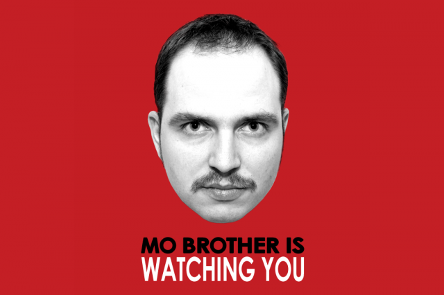 Movember Day 26: MO BROTHER IS WATCHING YOU